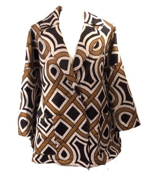 Giacca NIU' in cotone damascato Manica taglio Kimono