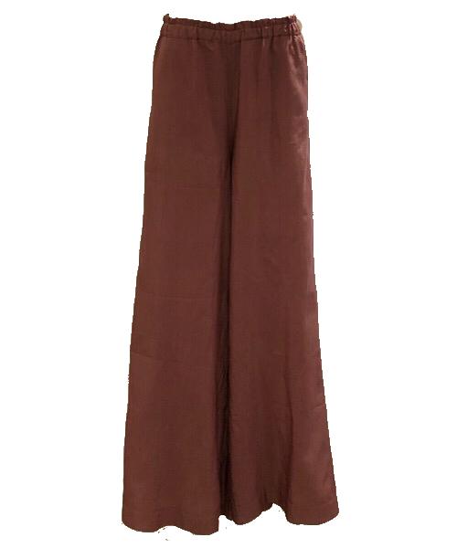 Zelda pantalone a palazzo cotone e seta