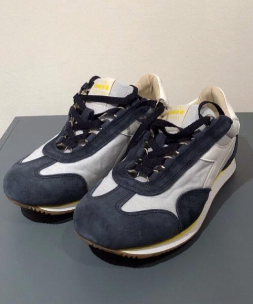 Diadora sneaker in pelle  e tessuto canvas