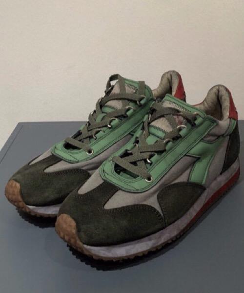Diadora sneaker in pelle scamosciata e tessuto canvas